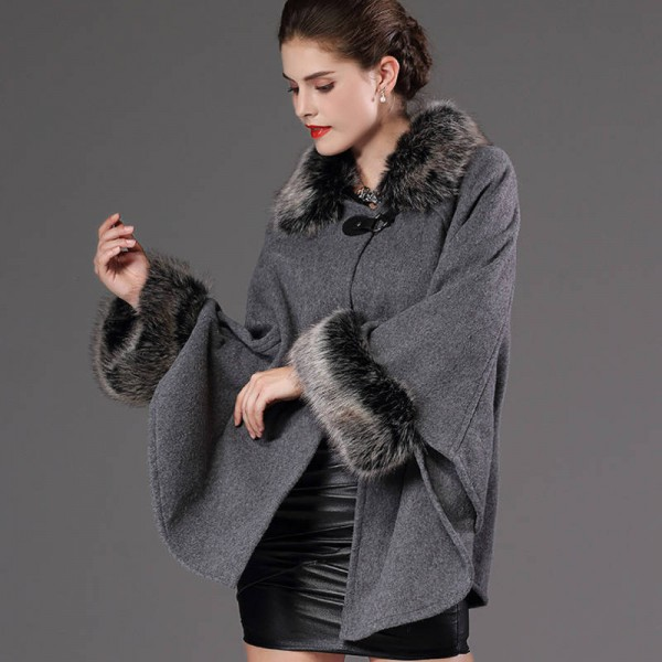 New Autumn Winter Warm Wrap Women Poncho Casual Cloak Warm Knitted Cardigan Women Extra Images 4