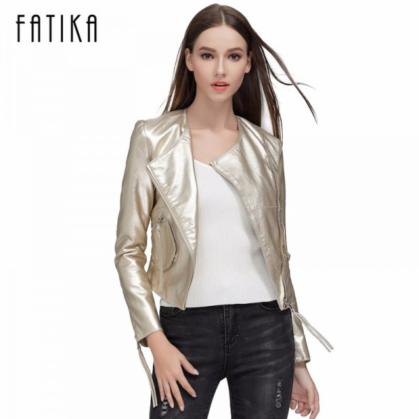 New Autumn Winter Women Brand Faux Soft Leather Jackets With Pockets Zippers Coat Motorcycle Short Jacket Outerwear Extra Image 1