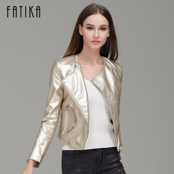 New Autumn Winter Women Brand Faux Soft Leather Jackets With Pockets Zippers Coat Motorcycle Short Jacket Outerwear Extra Image 2