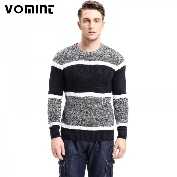 New Brand Autumn Mens Sweaters Cotton Gray Color Knitted Clothing Man Knitwear Pullovers Knitting Tops