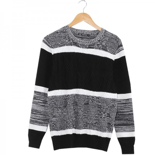 New Brand Autumn Mens Sweaters Cotton Gray Color Knitted Clothing Man Knitwear Pullovers Knitting Tops Extra Image 5