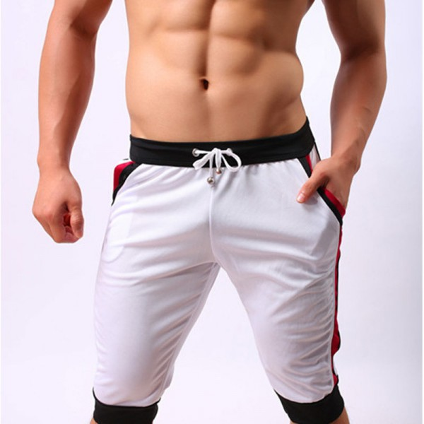 New Brand Mens Beach Short Trunks Quick Dry Summer Drawstring Home Shorts Mens Knee Length Pocket Trousers Extra Image 4