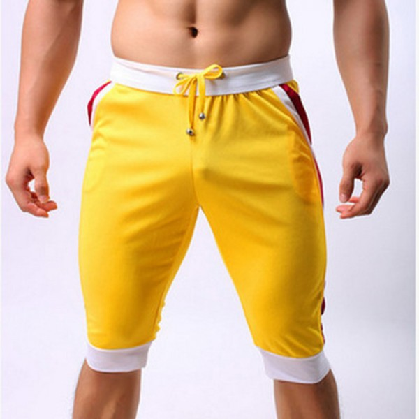 New Brand Mens Beach Short Trunks Quick Dry Summer Drawstring Home Shorts Mens Knee Length Pocket Trousers Extra Image 5