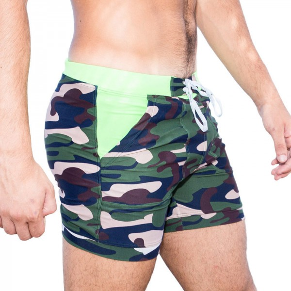 New Camo Swimming Surfing Shorts Swim Boxer Basic Camo Taddlee Swimwear Plus Size Boxer Trunks For Males Extra Image 3