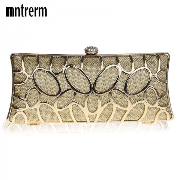 New Diamond Evening Clutches Bags For Women Metal Fashion Wedding High Quality Day Clutches Wild Style Women Thumbnail