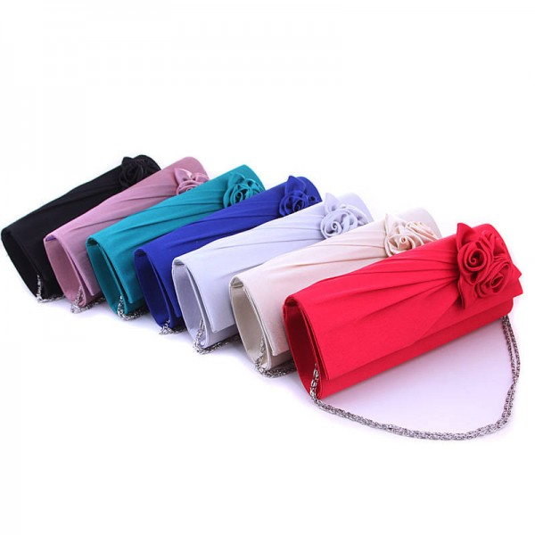 New European Flower Clutch Bridesmaid Wedding Evening Clutch With Chains Casual Party Handbags Messenger Bags Thumbnail