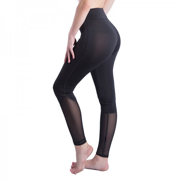 New Fashion Activity Style Leggings Black Mesh Patchwork Sweatpants For Women Thumbnail