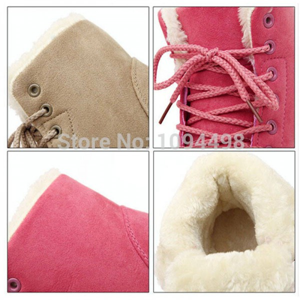 9b115bd8a76 New Fashion Botas Mujer Warm Fur Ankle Boots Winter Autumn New ...