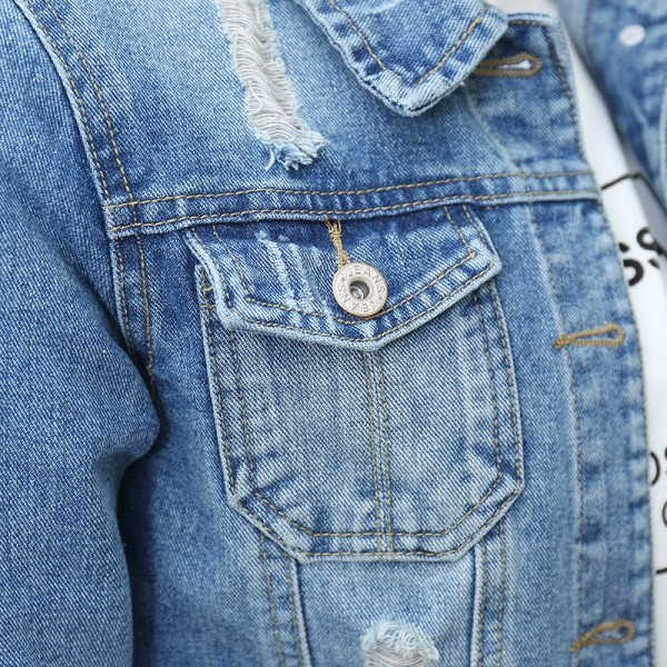 New Fashion Brand Women Plus Size 5XL Spirng Fall Denim Jacket Vintage Fashion Three Quarter Short Oversized Denim Coat Extra Image 6