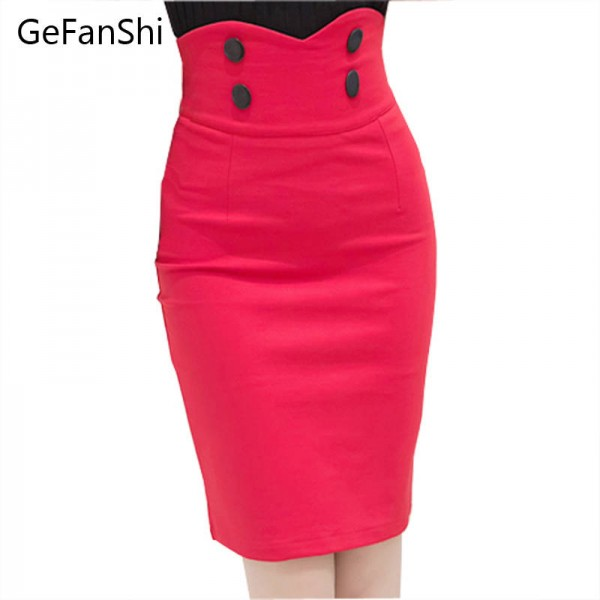 3633c4452 New Fashion Office Ladies Skirts Bandage Bodycon Summer Spring For Women  Thumbnail ...