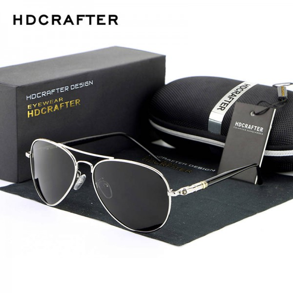 New Fashion Polarized Mens Sunglasses High Quality Polarized UV400 Alloy Frame HDCrafter Oval Glasses Extra Image 0