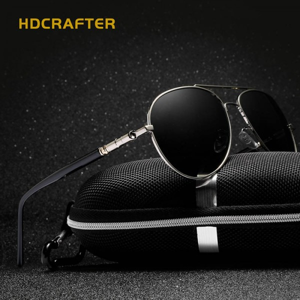 New Fashion Polarized Mens Sunglasses High Quality Polarized UV400 Alloy Frame HDCrafter Oval Glasses Extra Image 3