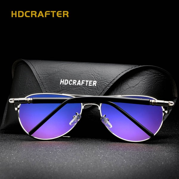 New Fashion Polarized Mens Sunglasses High Quality Polarized UV400 Alloy Frame HDCrafter Oval Glasses Extra Image 4