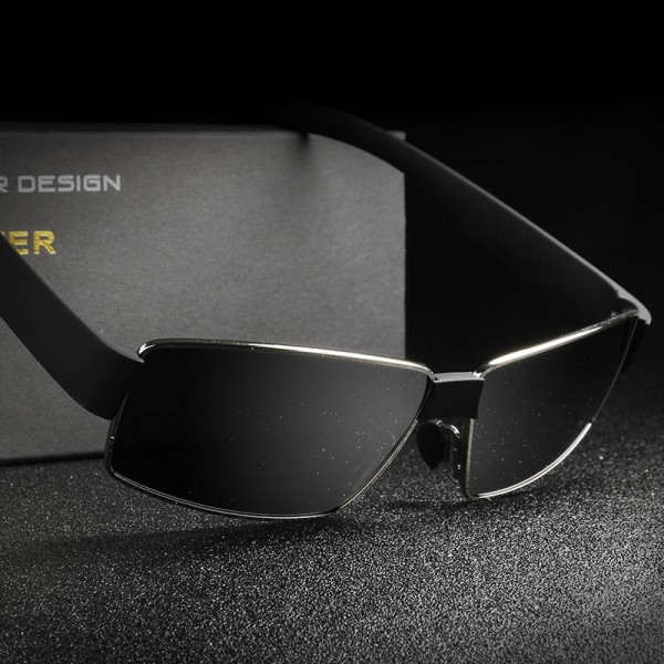 New Fashion Polarized Metal Frame Sunglasses For Men High Quality Rectangle HDCRAFTER Customized Goggles Extra Image 2