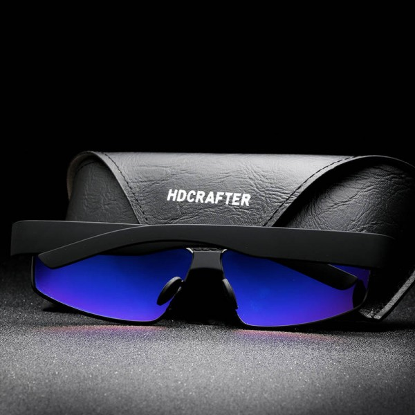 New Fashion Polarized Metal Frame Sunglasses For Men High Quality Rectangle HDCRAFTER Customized Goggles Extra Image 3