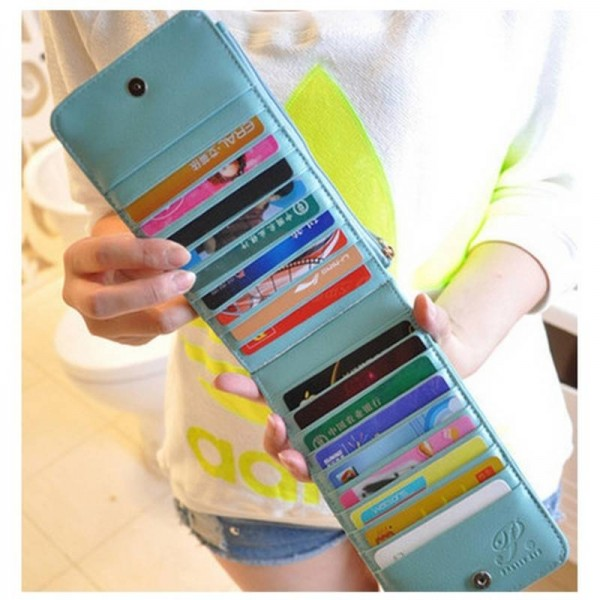 New Fashion Pu Leather Women Wallets ID Holders Zipper Credit Card Package Purses Bags Thumbnail