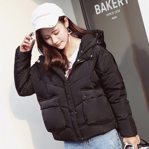 New Fashion Winter Jacket Women Cotton Padded Hooded Female Coat Parka Oversize Outerwear Winter Outfit Extra Image 1