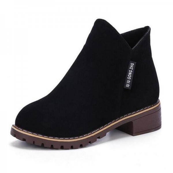 New Fashion Women martin Boots Autumn Winter Boots Classic Zipper Ankle Boots Grind arenaceous Warm Plush Women Shoes