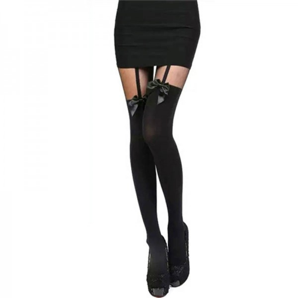 New Fashion Women Tights Pantyhose Stocking Bow Suspender New Arrivals For Women Thumbnail