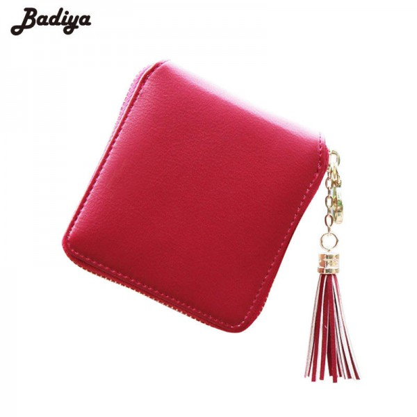 New Fashion Women Wallets Pu Leather Tassel Female Ladies Wallet ...