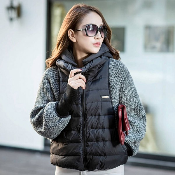 New Fashion Women Winter Autumn Jackets Coats Sleeve Wool Knitted Batwing For Women Thumbnail