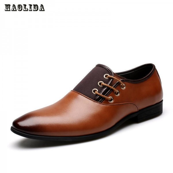 New Genuine Cow Leather Men Oxford Shoes Big Size 38 47 Brown Mens Business Office Formal Shoes Men