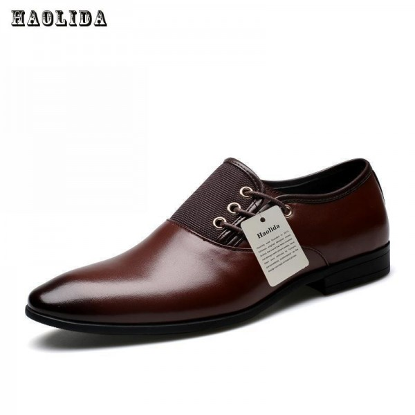 New Genuine Cow Leather Men Oxford Shoes Big Size 38 47 Brown Mens Business Office Formal Shoes Men Extra Image 3
