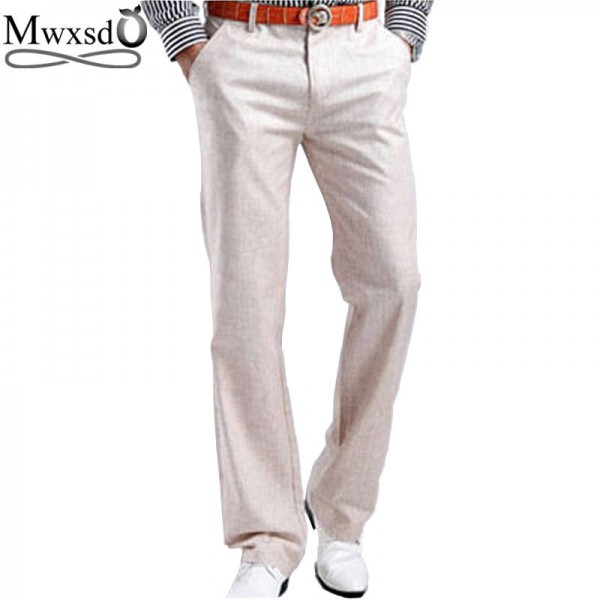 Mens Casual Ruched Stretch Multi-Pocket Cotton Pant Trousers