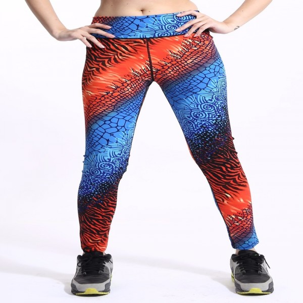 New High Waist Gradient Coloring Sporting Pants Galaxy Activewear Legging Waist Thin Quick Drying Fitness Yoga Leggings Extra Image 2