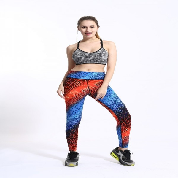 New High Waist Gradient Coloring Sporting Pants Galaxy Activewear Legging Waist Thin Quick Drying Fitness Yoga Leggings Extra Image 4