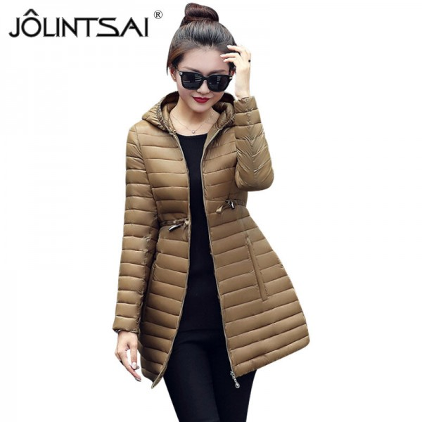 New Hooded Women Parka Cotton Padded Winter Jacket Coat Women Slim Womens Jackets Clothing Female Outerwear Extra Image 1