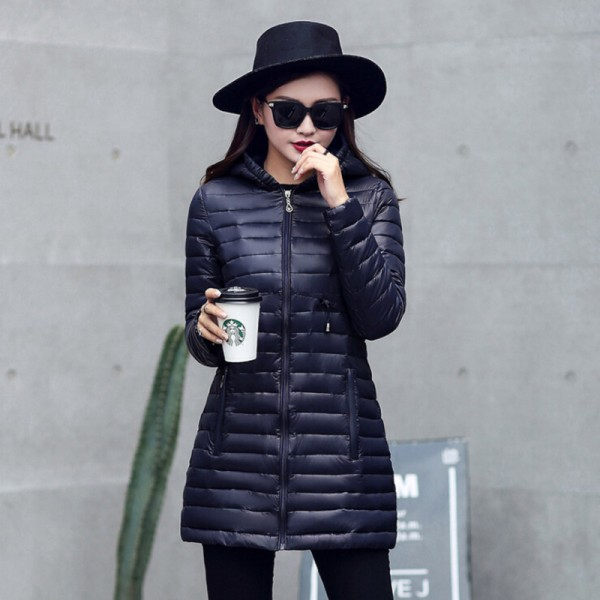 New Hooded Women Parka Cotton Padded Winter Jacket Coat Women Slim Womens Jackets Clothing Female Outerwear Extra Image 4