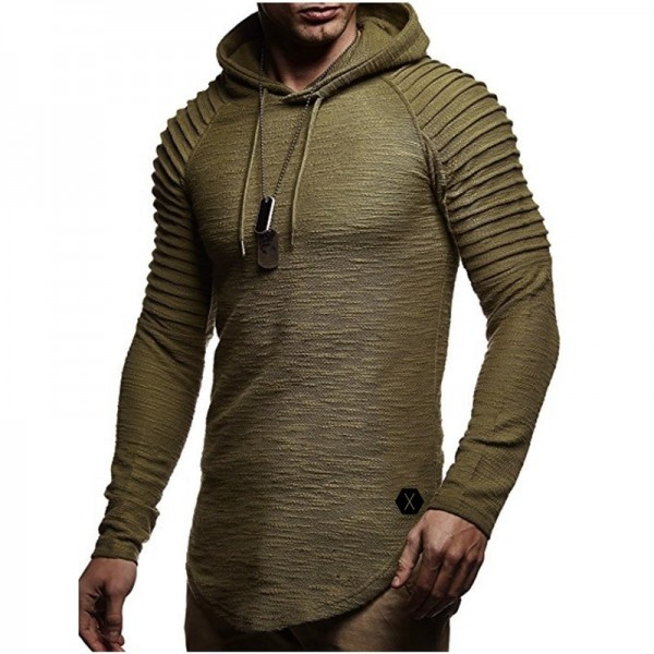 New Hoodie Solid Color New Mens Hoodie Brand Fashion Mens Solid Color Sweatshirt Mens Autumn Pullover XXXL Extra Image 1