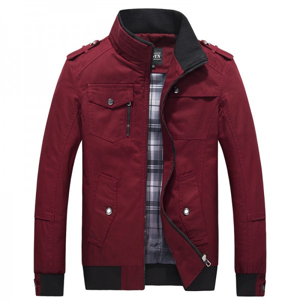 New Jackets Men Autumn Winter Fashion Mens Coats And Jackets Military Army Stand Collar Casual Brand Clothing Size