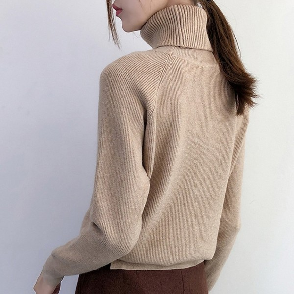 New Korean Style Women Sweaters Chic Knitted Turtleneck Sweaters And Pullovers Female Jumper Winter Tops Extra Image 2