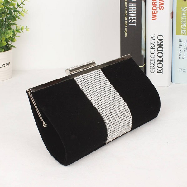New Ladies Satin Clutch Shoulder Bags With Chains Clutches Diamond Party Wedding Evening Handbags For Women Thumbnail