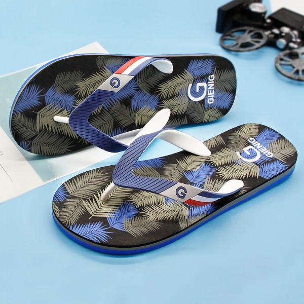 5de8c74b533 ... New Leaf Printed Slippers Flip Flops For Men Latest 2018 Slippers Beach  Style Household Sandals For ...