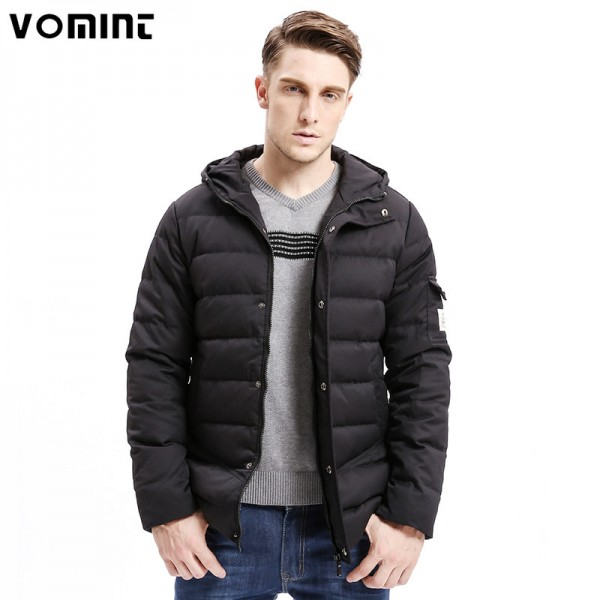 New Men Down Coat Heavy Weight Long Length Sleeve Pocket Solid Color Regular Fit Down Warm Coats Male Outwear Extra Image 1