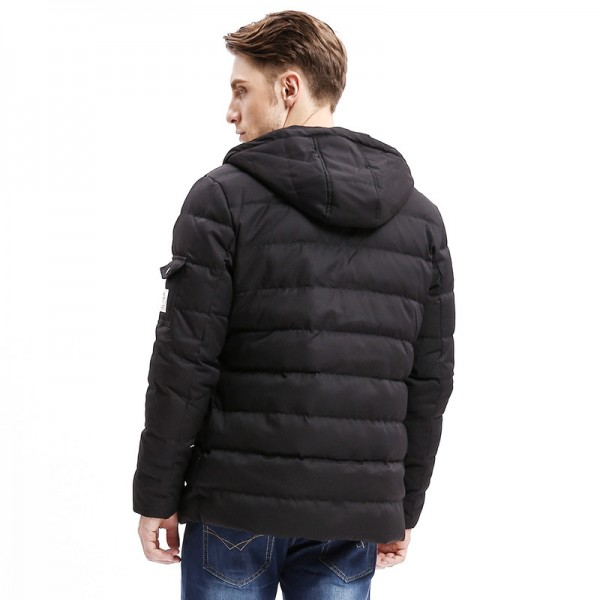 New Men Down Coat Heavy Weight Long Length Sleeve Pocket Solid Color Regular Fit Down Warm Coats Male Outwear Extra Image 4