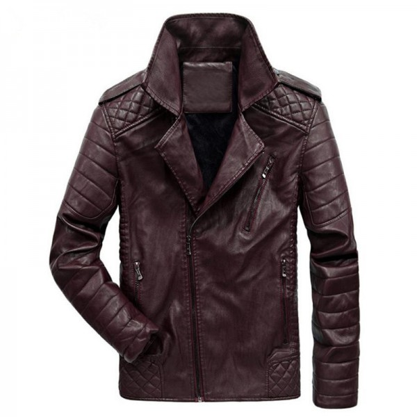 New men leather jackets and Europe and the Americas leisure motorcycle leather jacket men coat clothes large size Extra Image 2