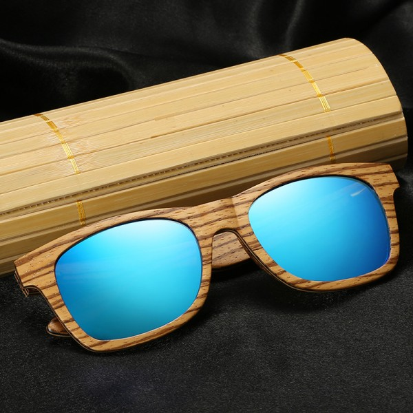 New Polarized Mens Brand Mirror Eyewear Wooden Sun Glasses Women Men Brand Wood Sunglasses Bamboo For Friends Extra Image 2