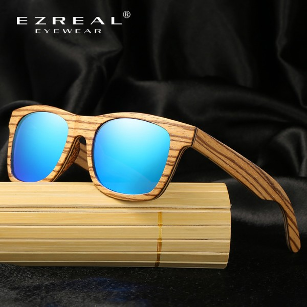 New Polarized Mens Brand Mirror Eyewear Wooden Sun Glasses Women Men Brand Wood Sunglasses Bamboo For Friends Extra Image 3