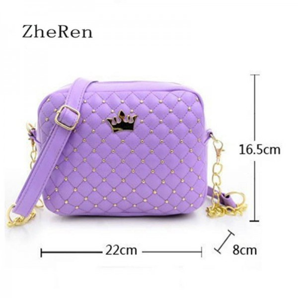 New Rivet Chain Shoulder Bags Hot Female Ladies Pu Leather Bags Women Thumbnail