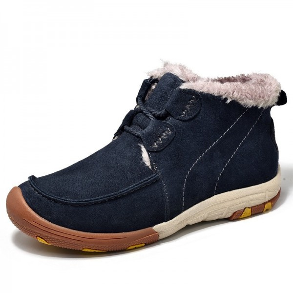 New Roman Winter Fur Warm Snow Boots for Men Sneakers Male Top Suede Leather Casual Shoes Ankle Boots