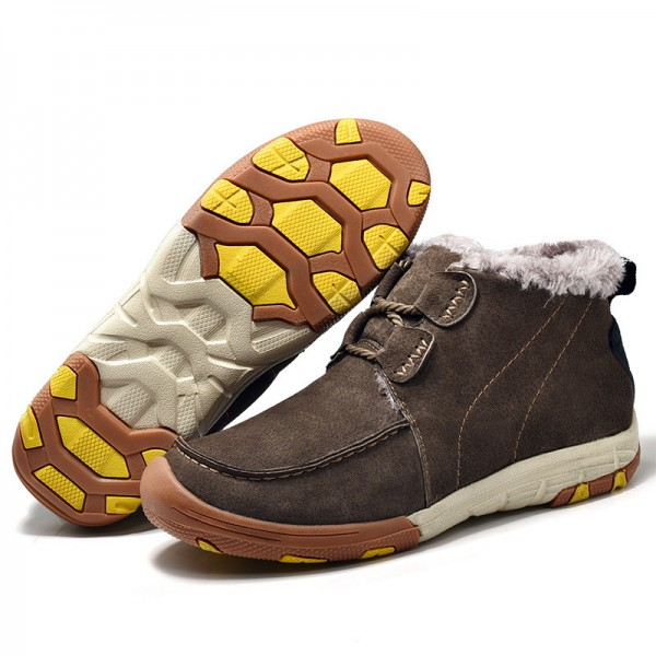 New Roman Winter Fur Warm Snow Boots for Men Sneakers Male Top Suede Leather Casual Shoes Ankle Boots Extra Image 5