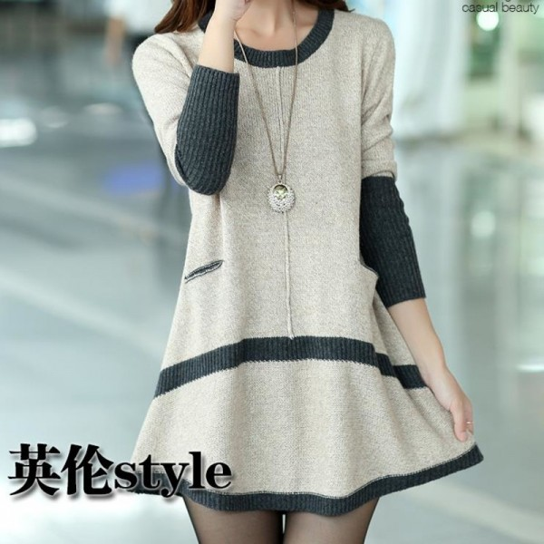 Buy New Season Autumn Sweater Dress Pullover Women Fashion O Neck ...