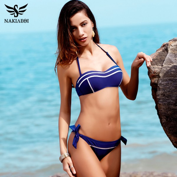 New Sexy Bandeau Bikinis Women Swimsuit Swimwear female Halter Brazilian Bikini Set Summer Beach Bathing Suit Swim Extra Image 3