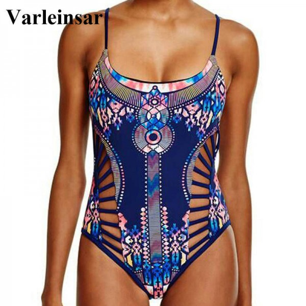 New Sexy Printed One Piece Swimsuit Swimwear For Women Padded Bathing Suit Beachwear New Arrival For Women Thumbnail