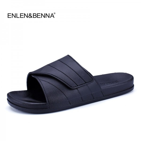 New Slippers Men Casual Sandals Leisure Soft Slides Eva Massage Beach Slippers Water Shoes Mens Sandals Flip Flops Extra Image 1
