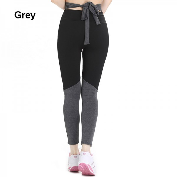 New Stitching High Waist  Fitness Collage Bow Knot Women Leggings Plus Size Workout Fitness Casual Hot Pants Extra Image 4